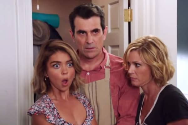 "The Dunphy family on ABC's ""Modern Family"""