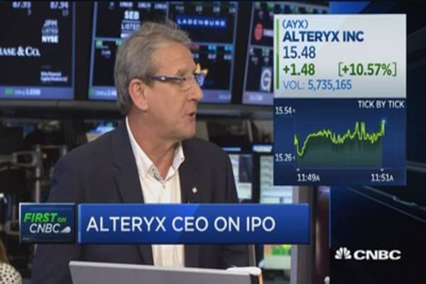 Alteryx CEO: Market is ready for a powerful platform like ours