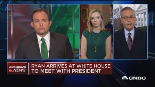 Speaker Ryan arrives at White House to meet with president