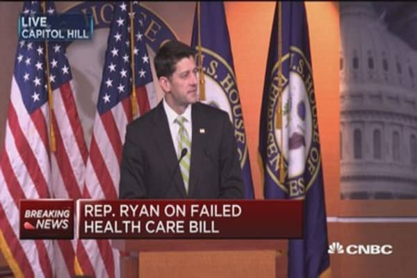 Speaker Ryan: Came close, but 'came up short'