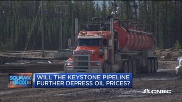 Will the Keystone Pipeline further depress oil prices?