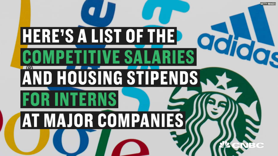 Interns for these major companies can earn thousands each month