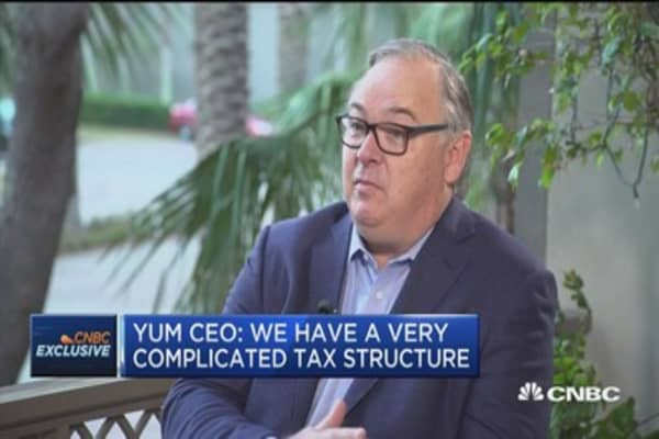 Yum CEO: We have a very complicated tax structure
