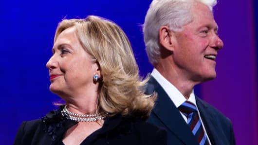 Hillary and Bill Clinton in 2011.
