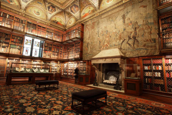 Inside The Morgan Museum and Library in Manhattan.