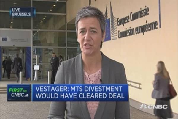 Brexit, political pressure play no role in LSE-Deutsche Boerse block: Vestager