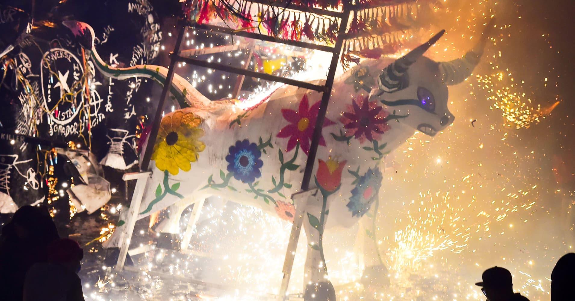 Celebration of San Juan de Dios festivity in Tultepec, near Mexico City, Mexico.