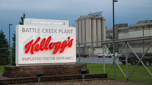 A file photo of Kellogg's Battle Creek Plant in Battle Creek, Michigan.