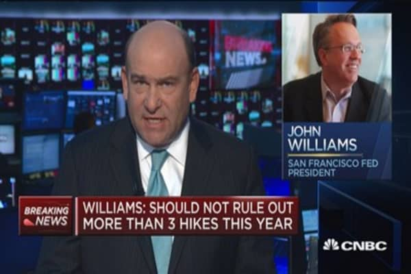 Fed's Williams: Should not rule out more than 3 hikes this year