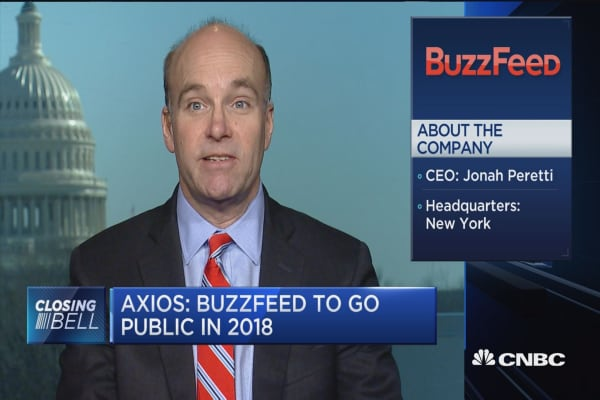 Axios: BuzzFeed to go public in 2018