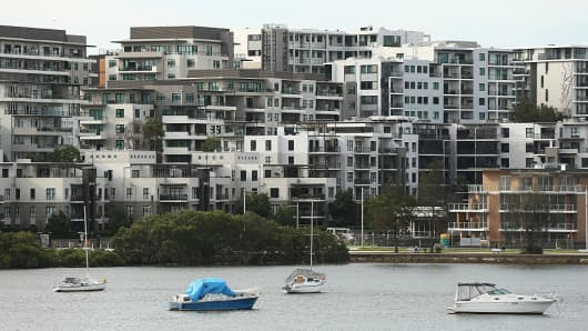 Apartment blocks stand in the suburb of Meadowbank in Sydney, Australia, on Sunday, Jan. 8, 2017.