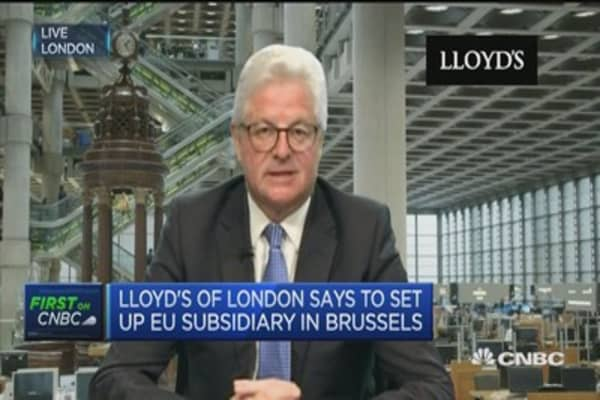 Lloyd's of London to set up European hub in Brussels
