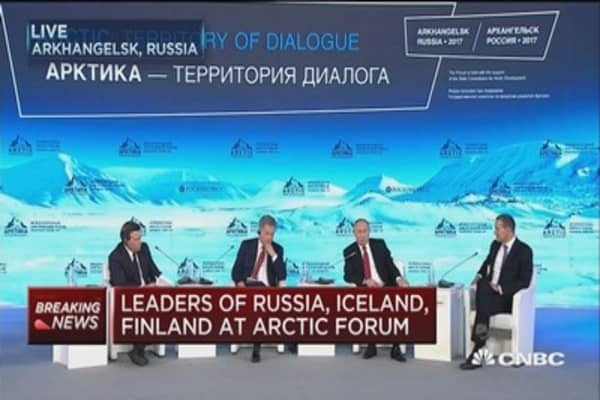 Russia, Iceland & Finland leaders discuss Russian Arctic claims