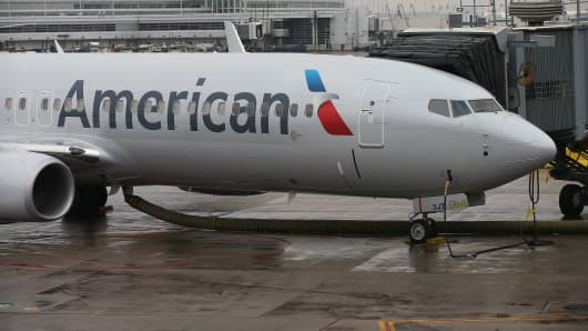 An American Airlines 737-800 aircraft.