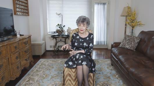 Sandra Baxter in her Manhattan apartment.