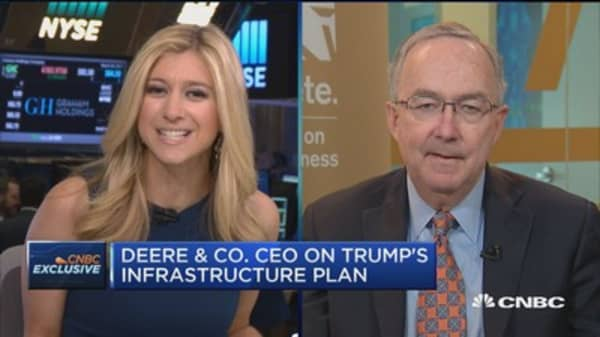 Deere & Co. CEO on Trump's infrastructure plan, taxes