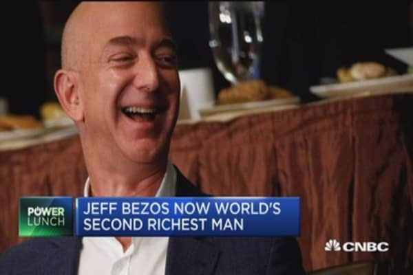 Jeff Bezos is now the second richest man on the planet