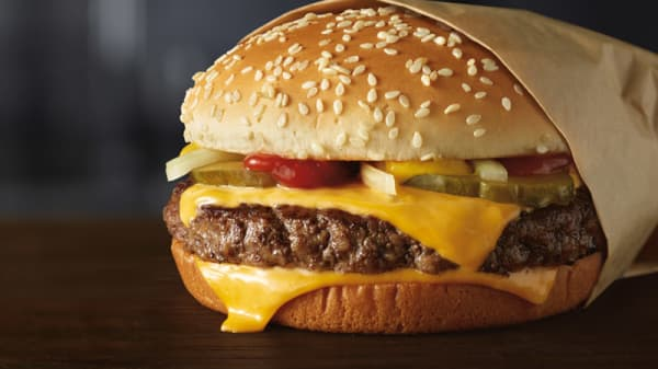 McDonald's launches fresh beef quarter pounders.