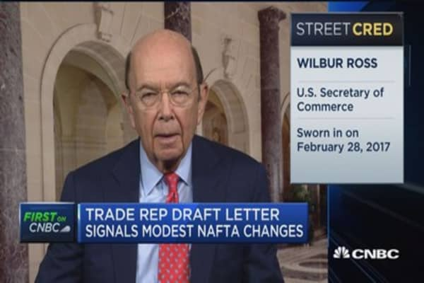 US Commerce Secretary Ross on NAFTA renegotiation