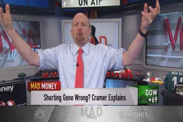 Cramer explains how short-sellers drove the Nasdaq to its record high