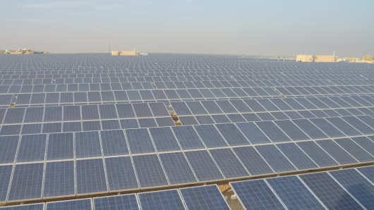 One of two solar parks at the King Abdullah Petroleum Studies and Research Center in Riyadh, Saudi Arabia.