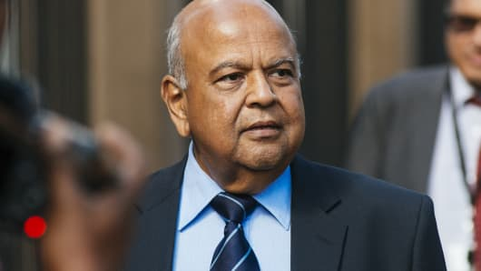 South Africa's newly appointed Public Enterprises Minister Pravin Gordhan