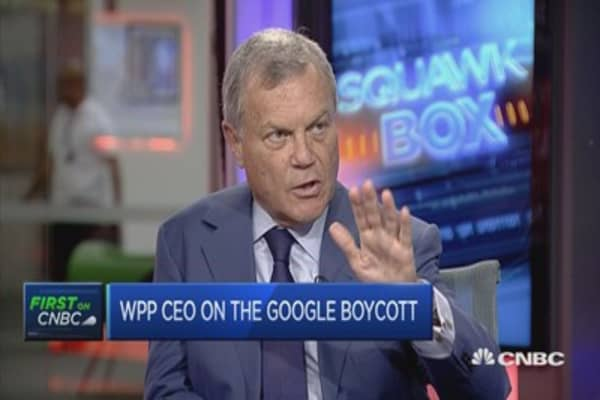 Boycotting Google doesn't make sense, says WPP CEO