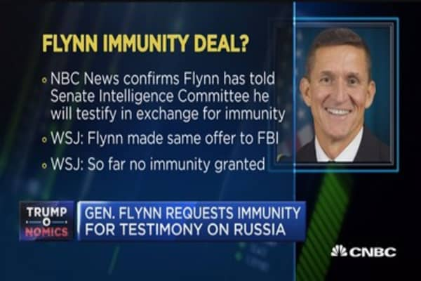 Mike Flynn offers to testify in exchange for immunity