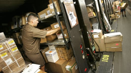 UPS delivery trucks