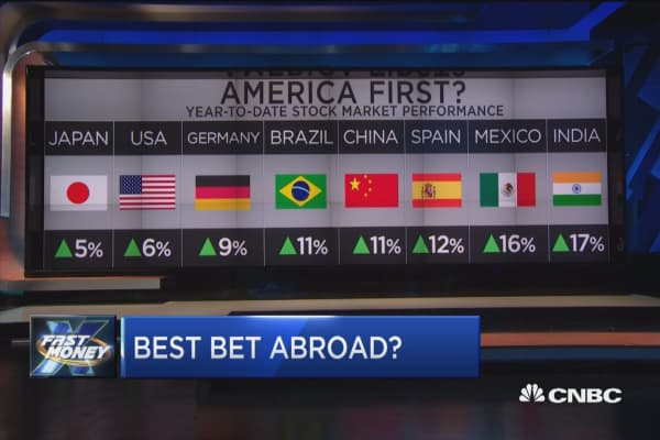 America first, but not when it comes to global stocks