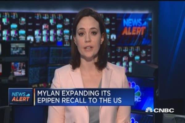 Mylan expands EpiPen recall