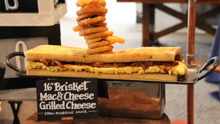 16'' Brisket Mac & Cheese Grilled Cheese at the Chicago White Sox