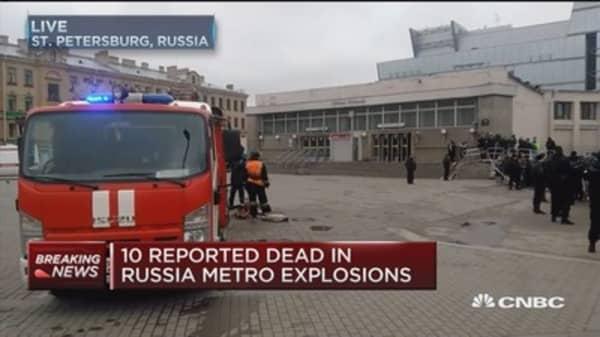 Ten reported dead in Russia Metro explosion