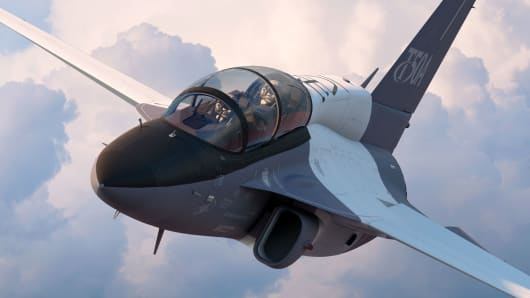 Lockheed Martin's T-50A jet trainer, the company's submission for the U.S. Air Force's T-X advanced pilot training program.