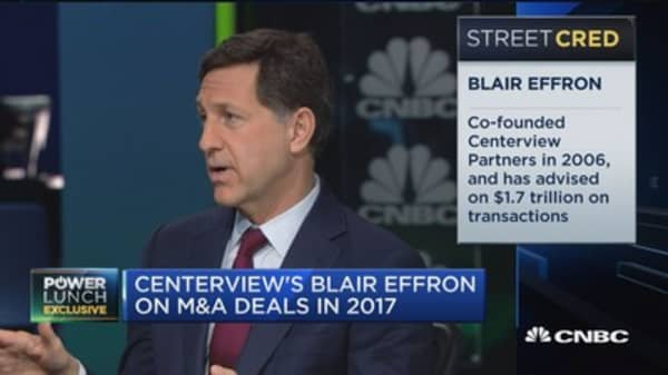 Centerview's Effron: Global M&A positively impacted by Trump