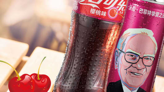 Warren Buffet's image to adorn Cherry-Coke cans in China.