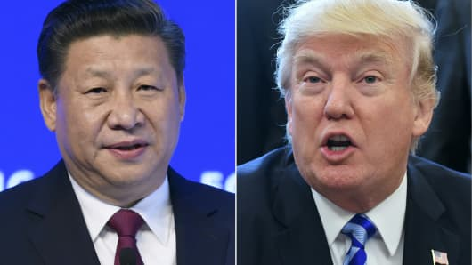 President Xi Jinping of China and U.S. President Donald Trump.