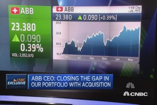 Closing the gap in our portfolio with acquisition: ABB CEO