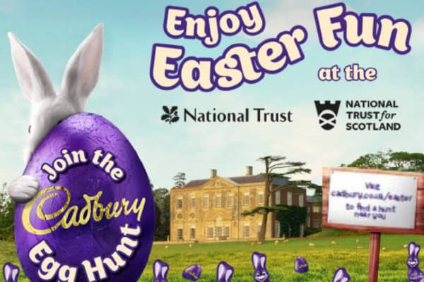 An online image promoting the Cadbury egg hunt at National Trust properties