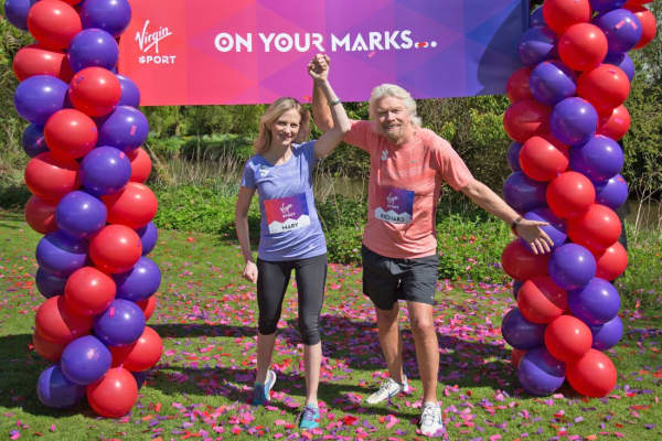 Mary Wittenberg and Richard Branson of Virgin Sport