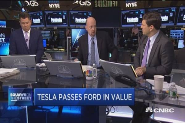 Let's not look at Tesla in a vacuum: Cramer