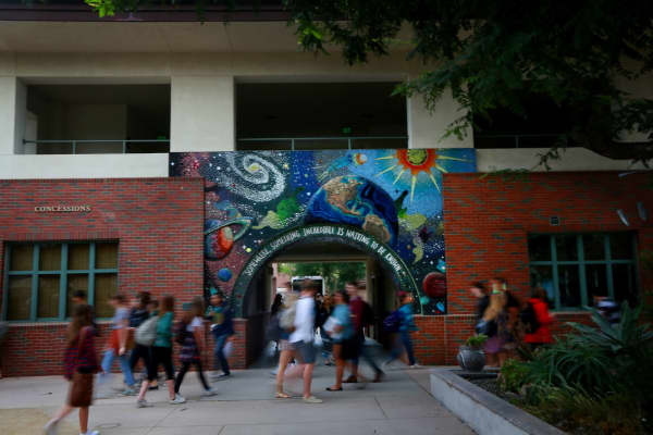 Murals adorn walls around campus at Coronado High School.