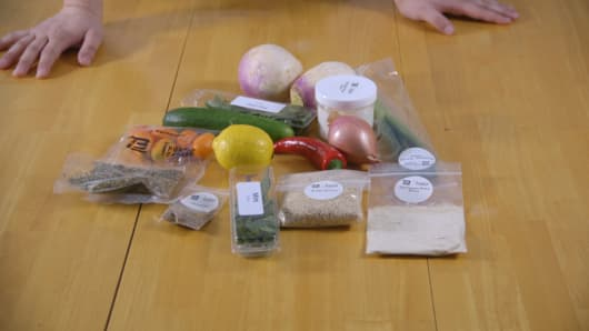 Ingredients for the crispy turnip cakes