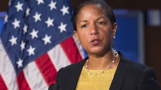 Then-U.S. National Security Adviser Susan Rice