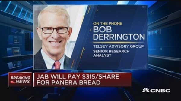 JAB to pay $315 per share for Panera
