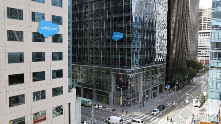 Salesforce buildings in downtown San Francisco