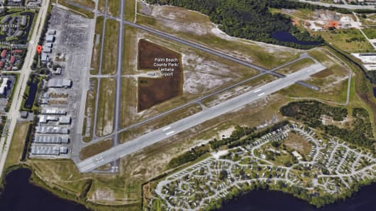 Lantana Airport is about six miles southwest of Mar-a-Lago.