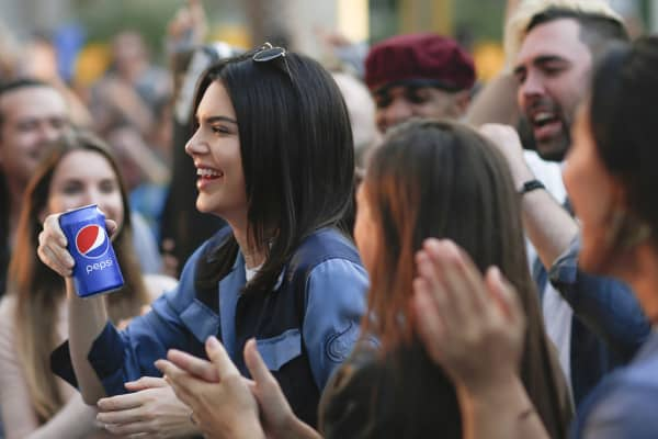 Kendall Jenner stars in the new Pepsi Moments ad.