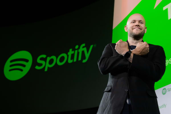 Daniel Ek, chief executive officer and co-founder of Spotify AB.