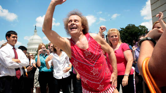 Richard Simmons on Capitol Hill, July 24, 2008.